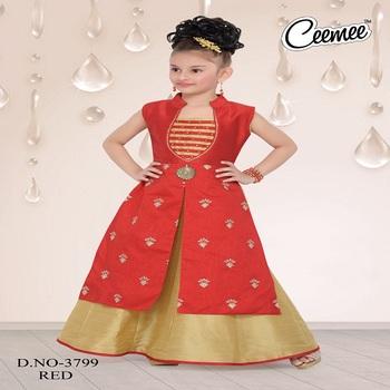 2060c20c6 Latest Model Girls Wear Designer Ghagara Set - Buy Girls Wear With ...