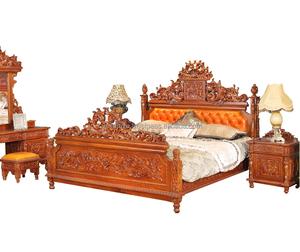 Solid Teak Wood Bed King Size