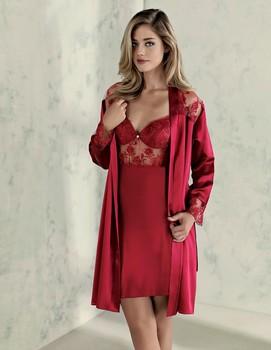 345ac72f568145b Сексуальная Тюль атласная шелковая ночная рубашка, халат, пижамы, шорты  комплект 6 шт.