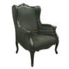 French Antique Black Arm Chair Mahogany Furniture Black
