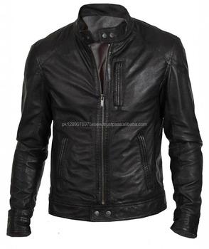 Wholesale New Design 2018 Fashion Leather Jacket Men Cow Leather Hot