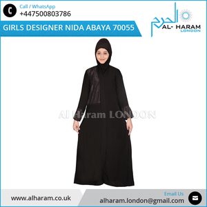Muslim Traditional Dress - Nida Fabric Stone Work Designer Abayas