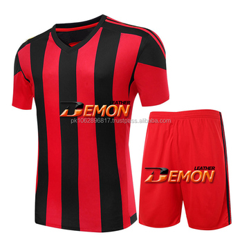 5bb21669d69 Custom design youth football jersey sets cheap blank soccer uniform for  teams