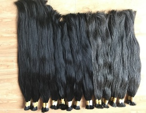 Hot sale Brazilian hair cheap grey color natural straight Human hair bulk for old man Hair extension