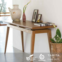 A classic addition teak wood Console Desk or Writing Desk, with contemporary lines and vintage taste