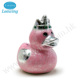 Ceramic Pearl Color Royal Duck Shape Coin Bank Animal Money Saving Box
