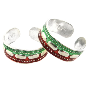 New design enamel toe rings indian 925 sterling silver jewelry wholesaler silver toe rings suppliers