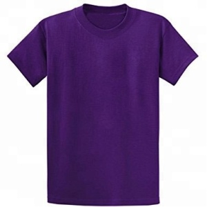 Men's 100% Cotton 180 Gsm Purple Round Neck Plain T-Shirts