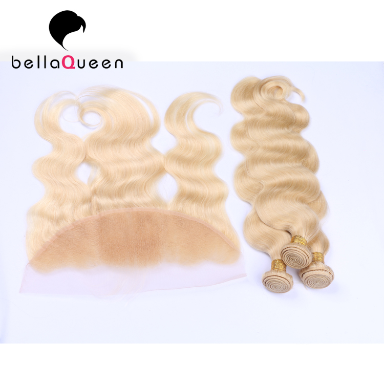 New brazilian human hair closure piece,blonde hair bundles with lace closure, silk base closure 360 lace frontal closure