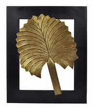"13 x 11"" Ethnic Designer Wall Frame Leaf Creative Mounted Decorative Canvas Wooden Picture"