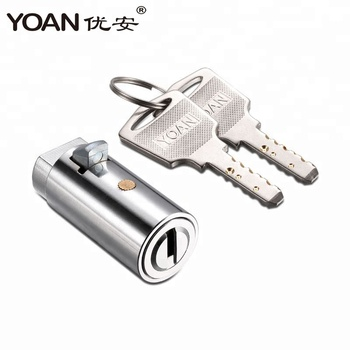 high security brass dimple key cylinder lock for vending machine dispenser