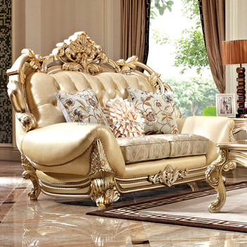 Italian Sofa Luxury Combination Living Room Furniture Carved European Solid Wood