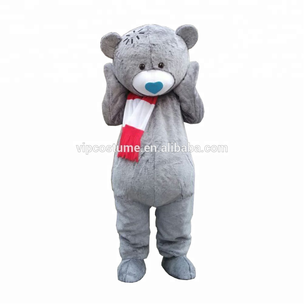 Gray Bear Adult Mascot Costume Cosplay Fancy Party Dress Halloween Costumes, As picture