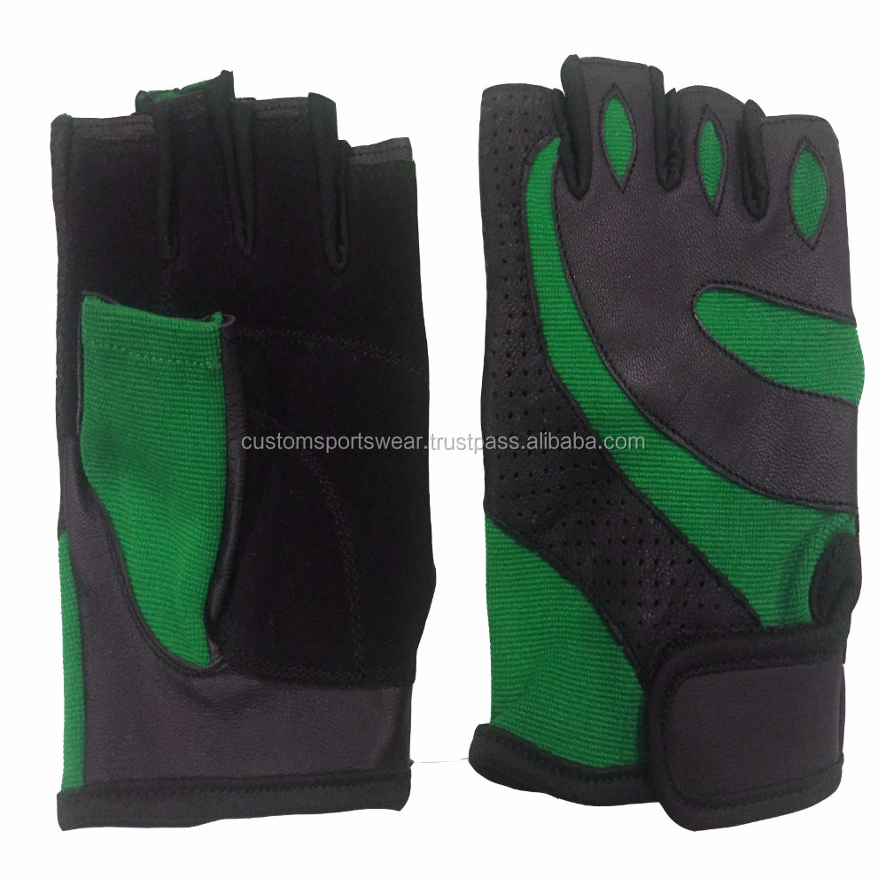 Leather Hand Grips Pad Palm Protect Wrist Support Wrap