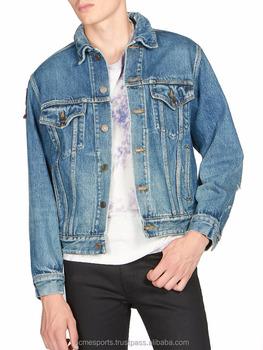 Denim Jackets Light Washed Denim Jacket Light Washed Designer Men