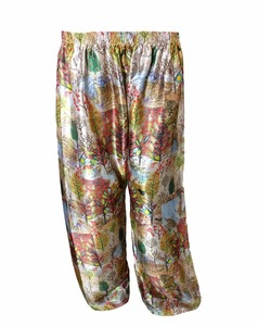 African Style Printed Palazzo Pants / High Quality Satin Silk Trouser For Women (beach wear palazzo trousers pant)