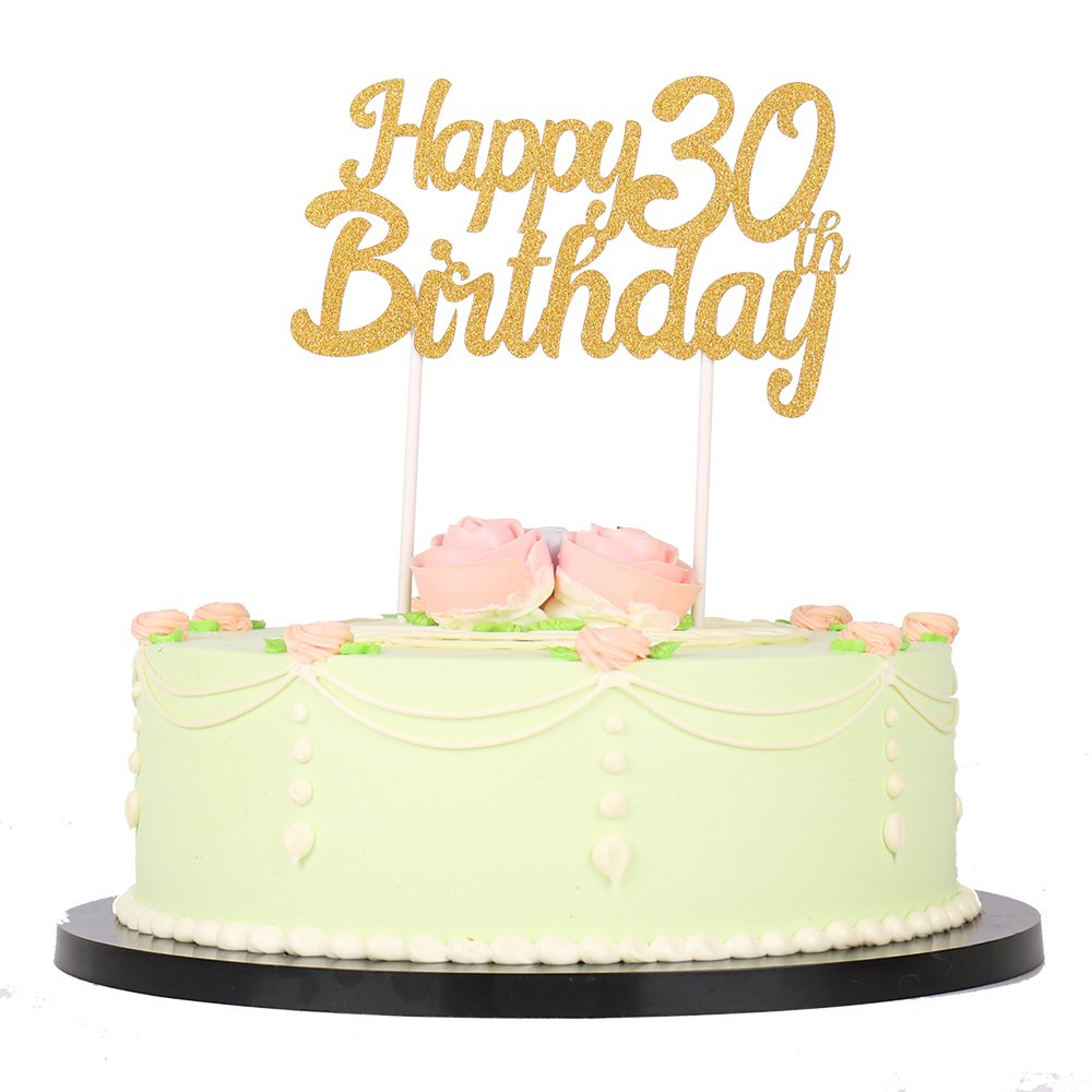 Buy ShinyBeauty Birthday-Cake-Topper-30th,Cake Topper Numbers ...