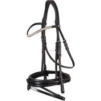 Indian leather dressage horse riding bridle with reins