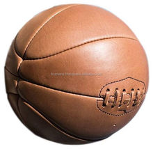 Antique Style Real Leather Basketball