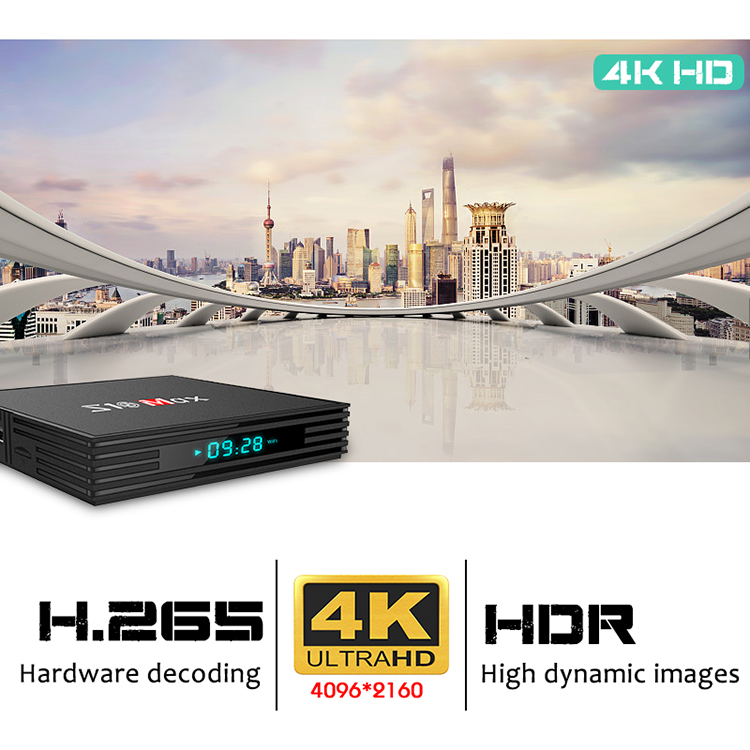 2019 Newest Android 9.0 TV box S10 MAX DDR4 4gb Ram 32gb Rom USB 3.0 High Definition Video 4K Set Top Box