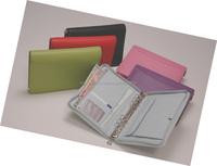 6 leather ring binder / Pu multiple color design ring binder padfolio/ a4 portfolio with ring binder executive folder