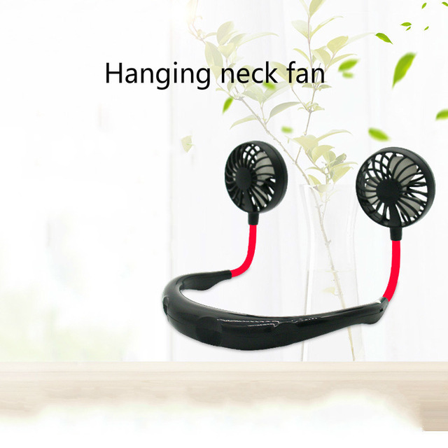 Headphone Design Neckband Rechargeable Mini <strong>Fan</strong>