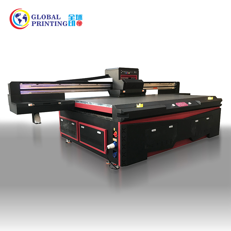 2.5*1.3 m Flat Bed Digitale UV Inkjet Printer Prijs Flatbed UV Printer