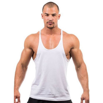 449afc0606672 Custom Brand Wholesale Men Tank Tops Bodybuilding Breathable Singlet best  gym stringer