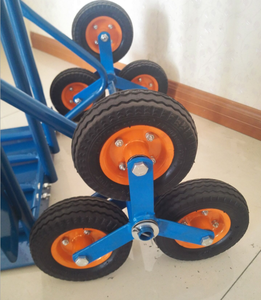 3 wheels drill pipe hand truck trolley samsonite collapsible heavy duty steel cart 6 wheels Climbing Warehouse Truck