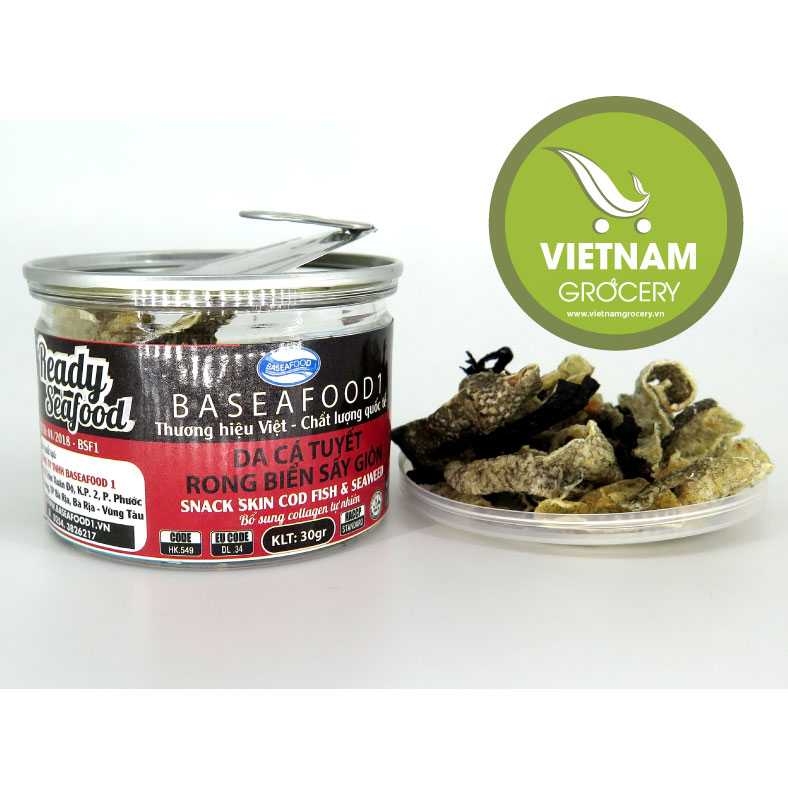Vietnam High-Quality Snakeskin Cold Fish And Seaweed 50g