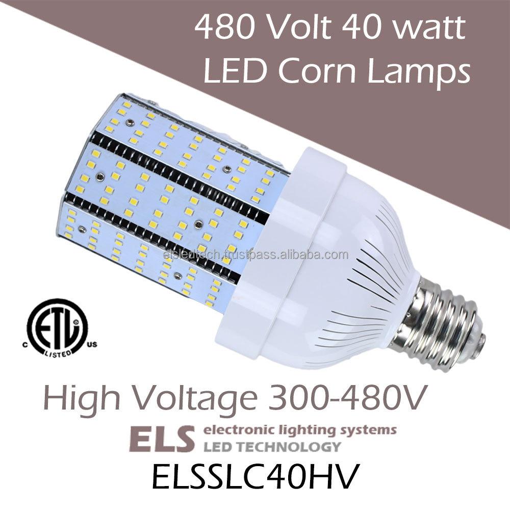 High Voltage 480 Volt 40 Watt Led Corn Lamps 120w Metal Halide Led ...