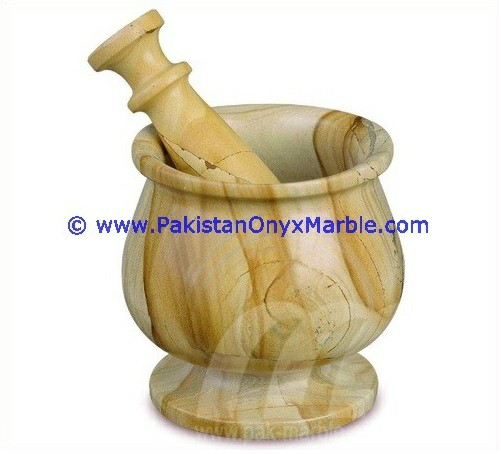 wholesaler supplier of natural stone onyx mortar and pestle Teakwood Burmateak marble crushing grinding