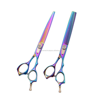 "Pet Grooming Scissors Sets 7"" Professional Japan 440C Dog Shears Hair Cutting"