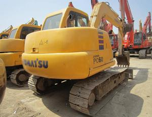Manual used 6t tracked excavator Kumatsu machine PC60