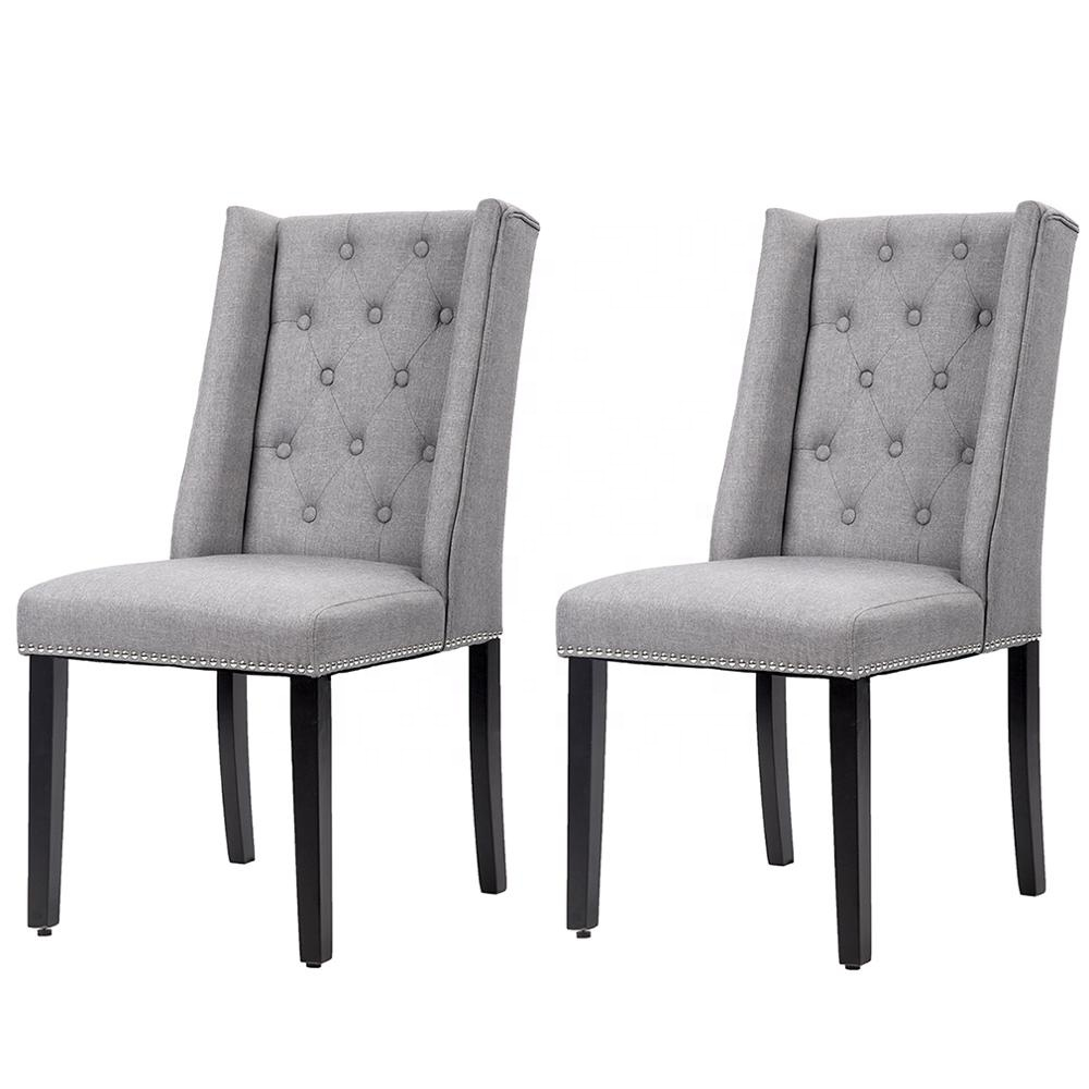 American Style Classical Living Room Set Fabric Wooden <strong>Chair</strong> for Dining Room