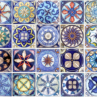Italian handmade flooring pottery and ceramic vases