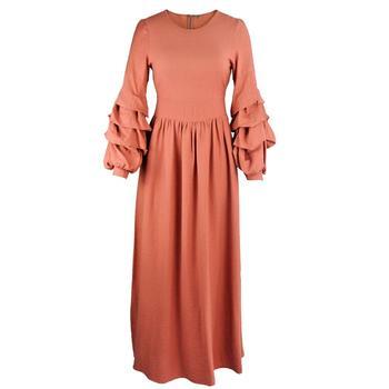 Long Puff Sleeve Dress
