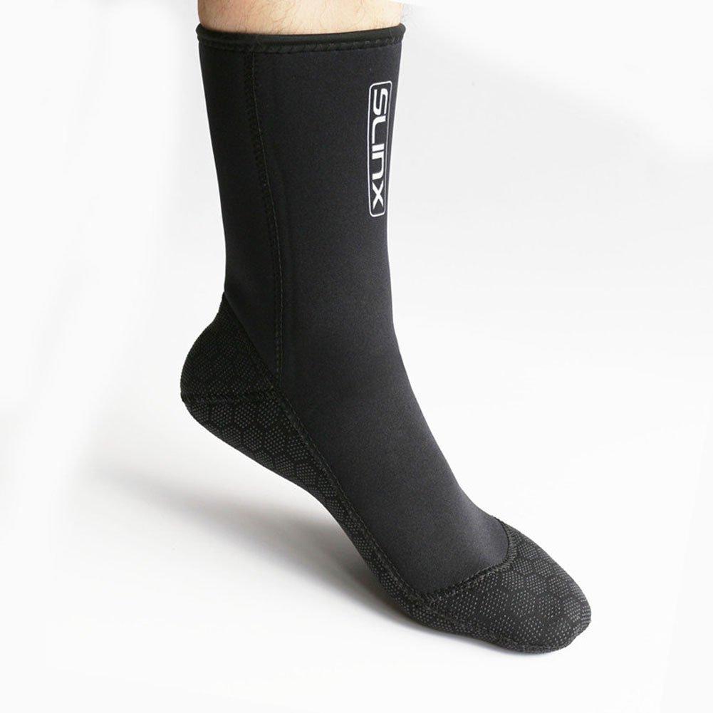 63f88bf166d Get Quotations · Neoprene Water Fin Sock Diving Wetsuits Sock 3MM for Women  Men