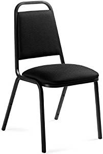 """Offices To Go Stacking Office Chair Overall Dimensions: 17.5""""W X 22.5""""D X 33.5""""H Seat Size: 16.5""""W X 16.5""""D Back Size: 12""""W X 15.5""""H - Black Quilt"""