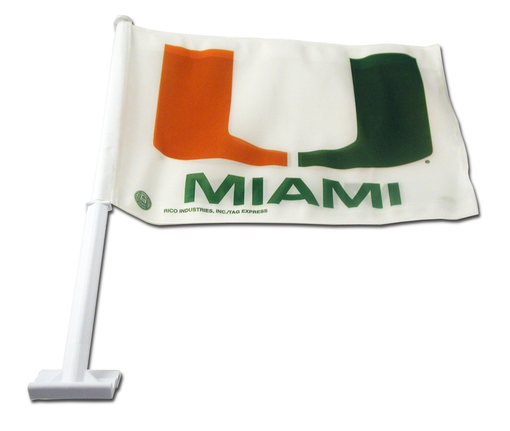 NCAA Miami Hurricanes Car Flag