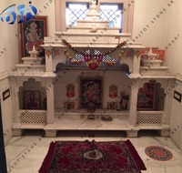 Ambaji White Marble Polished Antique Design Temple And Mandir