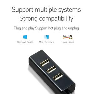 L-CUBIC Hot selling high performance 4 Port USB hub plug and play USB 2.0 Hub for card reader printer etc