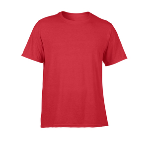 Men Adults Casual Wear Half Sleeve Tee Performance Polyester T-Shirt
