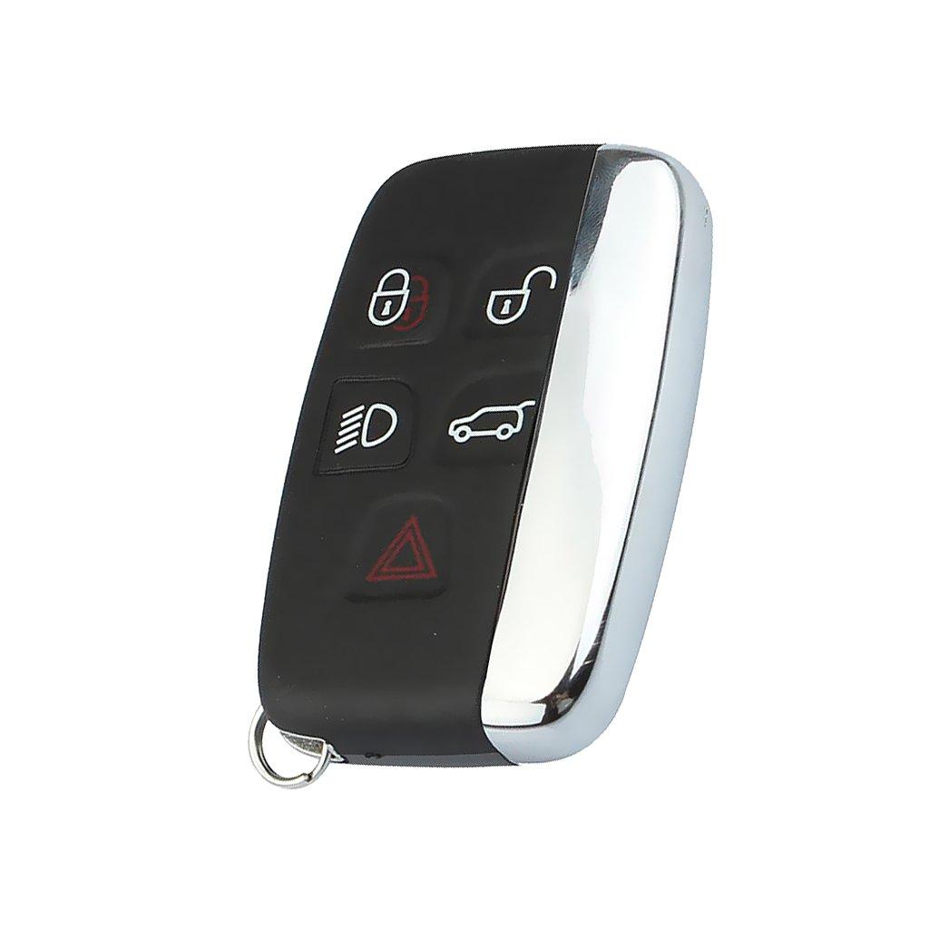 Dovewill Replacement Car Remote Key Shell Case Fob 5 Button for 2010-2013 JAGUAR XJ 2010-2011 JAGUAR XJL 2009-2012 JAGUAR XF