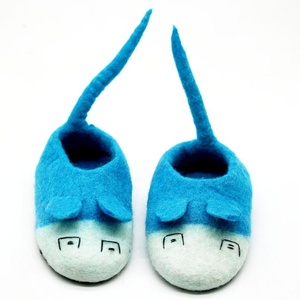 FSS-005 Little Mouse Shaped Eco-friendly Indoor Warm Felt Shoes, New Zealand Wool felted by Skilled Women Artisans from Nepal