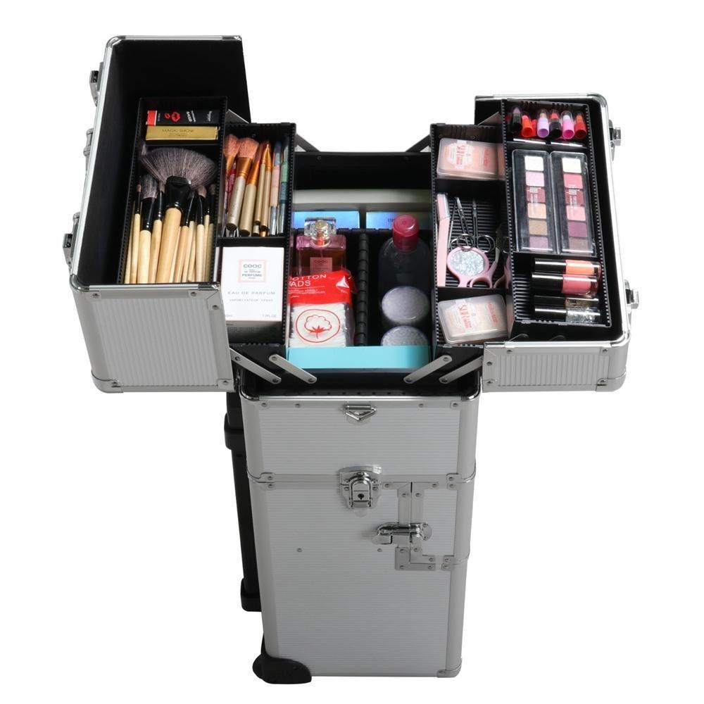 da5cf9bedd1e Buy Lovinland 3 in 1 Rolling Makeup Case Cosmetic Trolley Salon ...