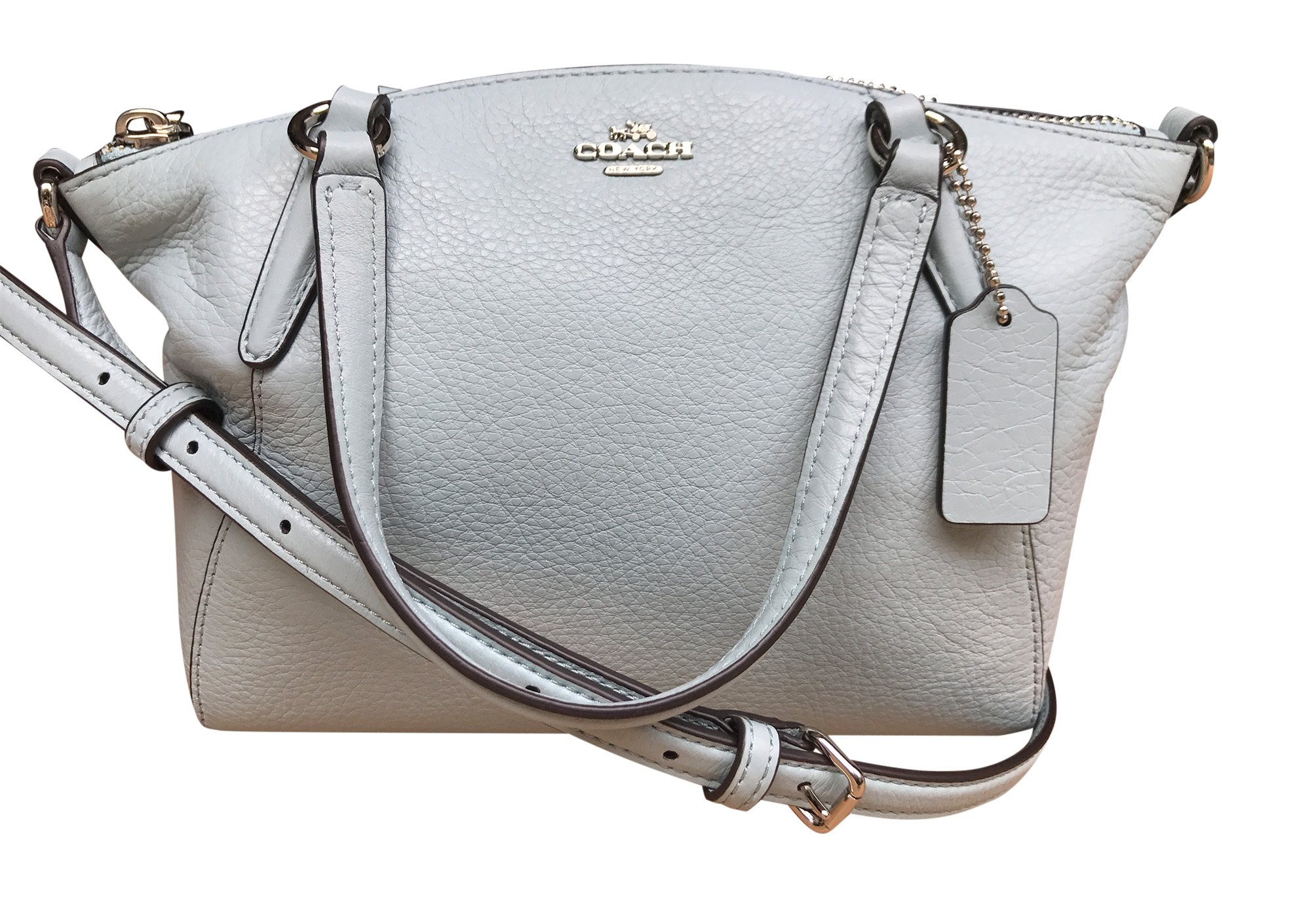 a160b004da782 Get Quotations · Coach Pebble Leather Mini Kelsey Satchel Crossbody Handbag