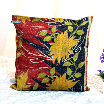 Latest Design Kantha Wholesale Recycled Saree Cushion Cover Hand