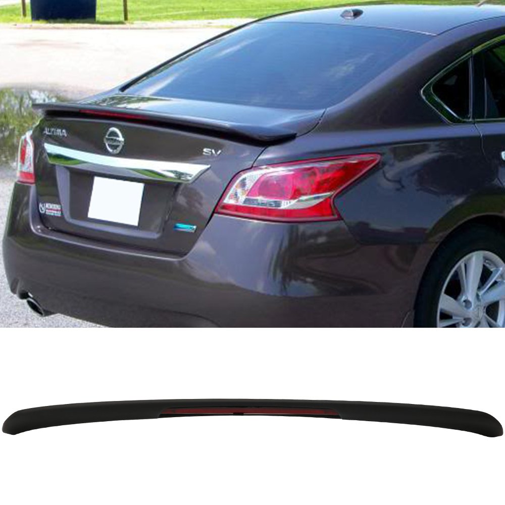 Get Quotations Trunk Spoiler Fits 2017 Nissan Altima Oe Style Matte Black Abs Car Exterior