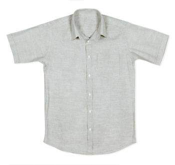 88851794668f Pure cotton mens summer linen t shirt tops casual shirt half sleeves  business formal grey solid